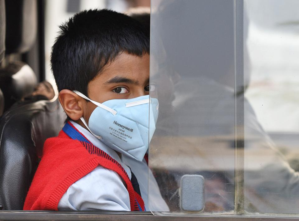 After an extended weekend break owing to pollution, city schools opened on Tuesday.