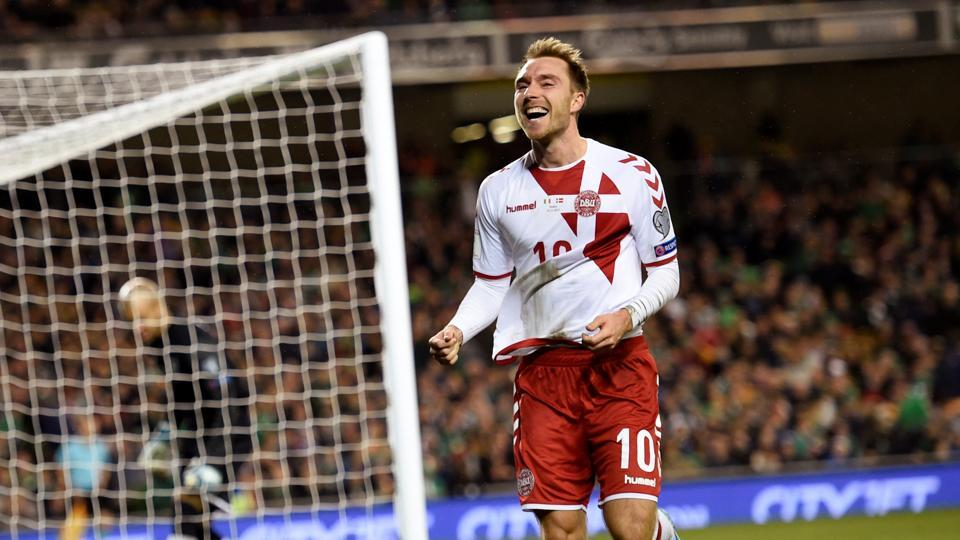 Christian Eriksen scored a hattrick as Denmark thrashed Republic of Ireland 5-1 to qualify for the 2018 FIFA World Cup in Russia.