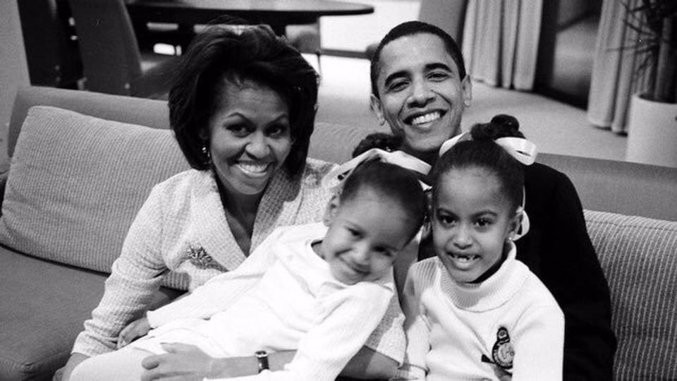 Michelle Obama posted this picture of the Obama family on her Twitter account. (Twitter)