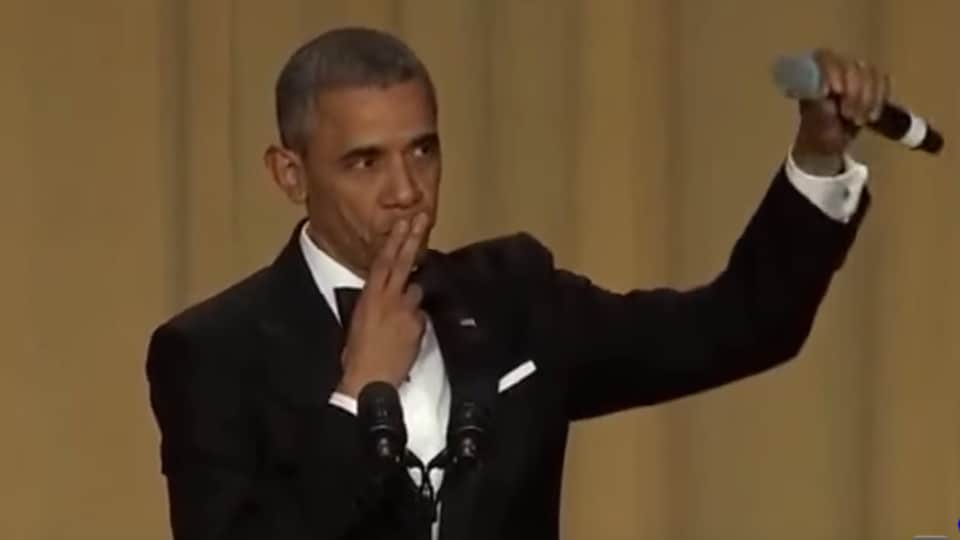 Obama roasted Donald Trump at the White House Correspondent's Dinner last year. His speech concluded with 'Obama out' and a mike drop. (Video Screengrab)