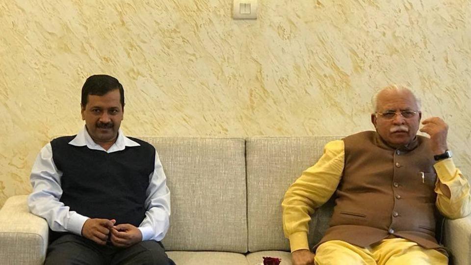 Delhi air pollution,Arvind Kejriwal,Manohar Lal Khattar