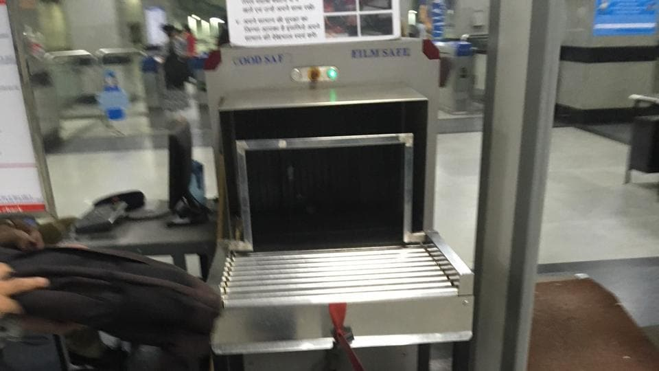 DMRC has started putting steel gauges on baggage scanners, to restrict the use of oversized baggage. As per rule, only bags that are 45cm in width and 25cm in height are allowed inside the Metro