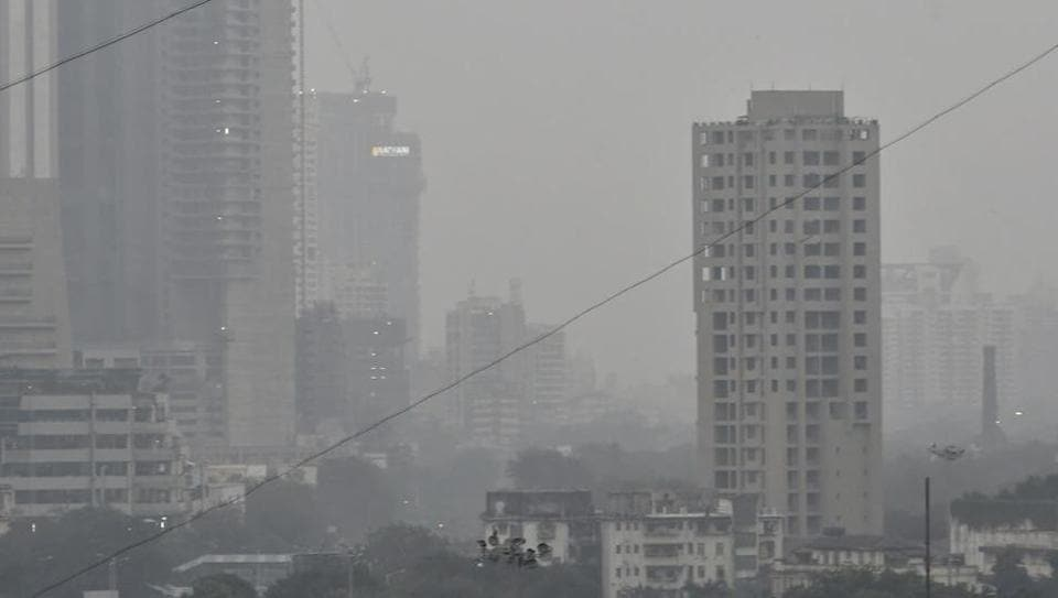 Smog over Parel on Tuesday.