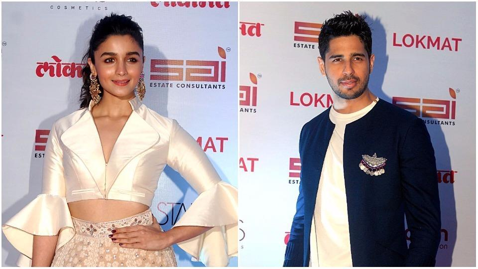 Alia Bhatt and Sidharth Malhotra looked gorgeous on the red carpet.