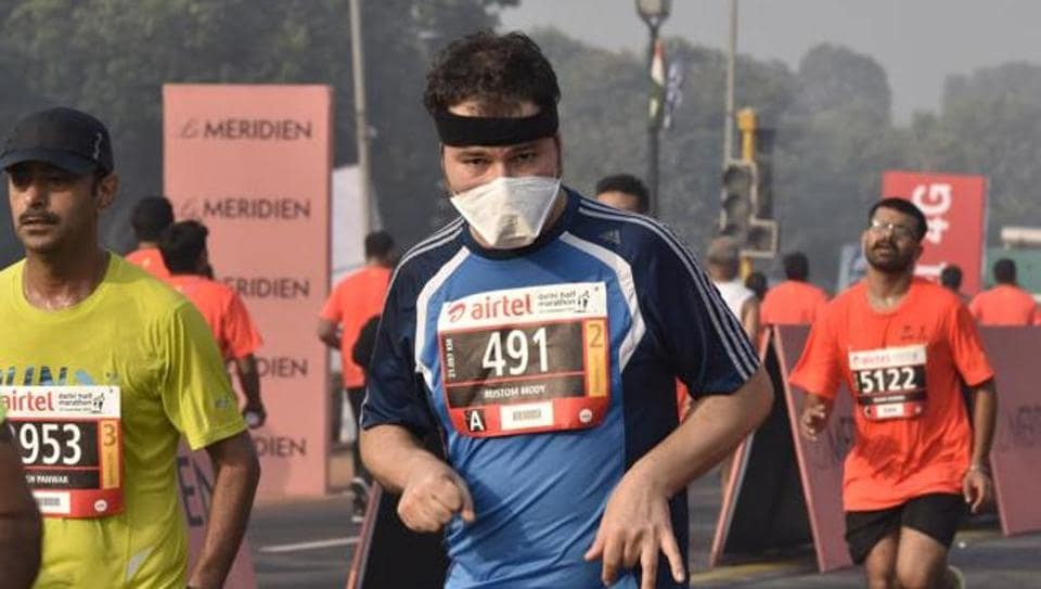 Delhi half-marathon,Hugh Jones,Air Pollution