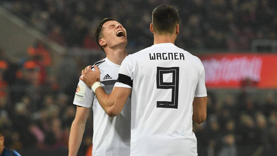 Germany secured a 2-2 draw against France in a football friendly thanks to goals from Lars Stindl and Timo Werner.