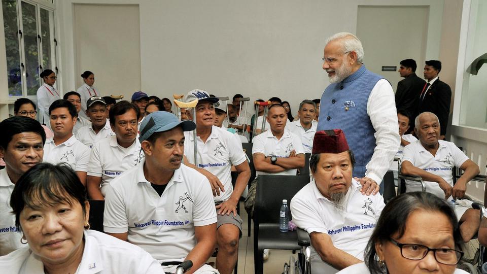 Prime Minister Narendra Modi,Jaipur Foot,Manila