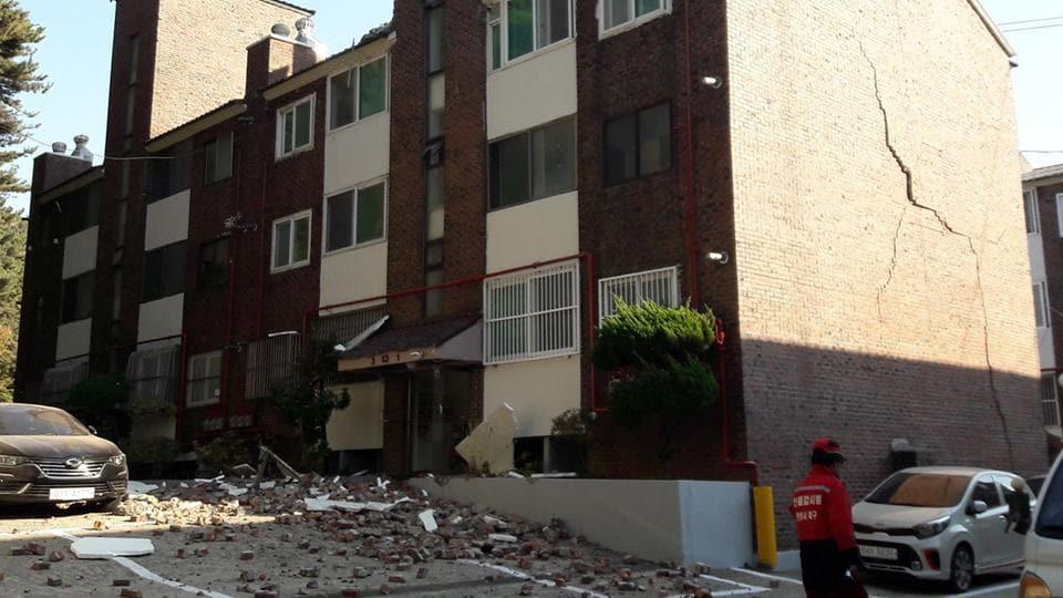 Magnitude 5.4 quake hits Korea's southeastern coastal city of Pohang