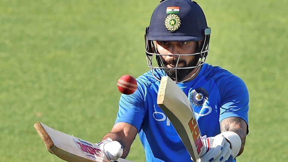 Virat Kohli, Indian cricket team skipper, during a training session at Eden Garden ahead of the 1st Test against Sri Lanka.