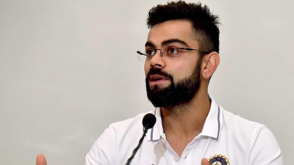 Virat Kohli interacts with the media in Kolkata ahead of the first cricket Test between India and Sri Lanka.
