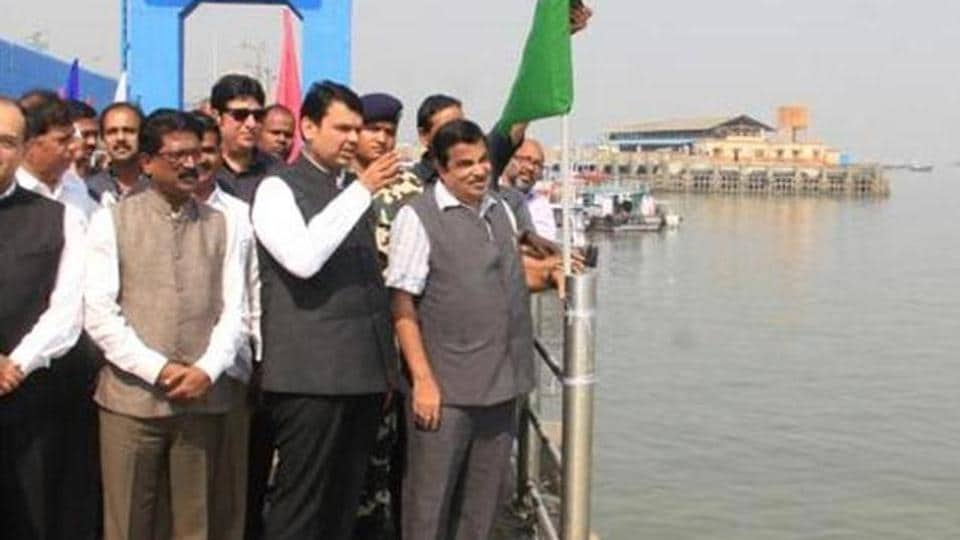 Chief minister Devendra Fadnavis and Union minister Nitin Gadkari had laid the foundation stone for water transport terminal at Ferry Wharf