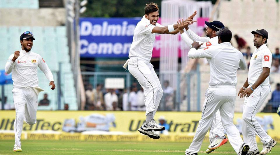 Sri Lanka pacer Suranga Lakmal breathed fire on a green track to rock India on the rain-hit Day 1 of the first Test on Thursday. (PTI)