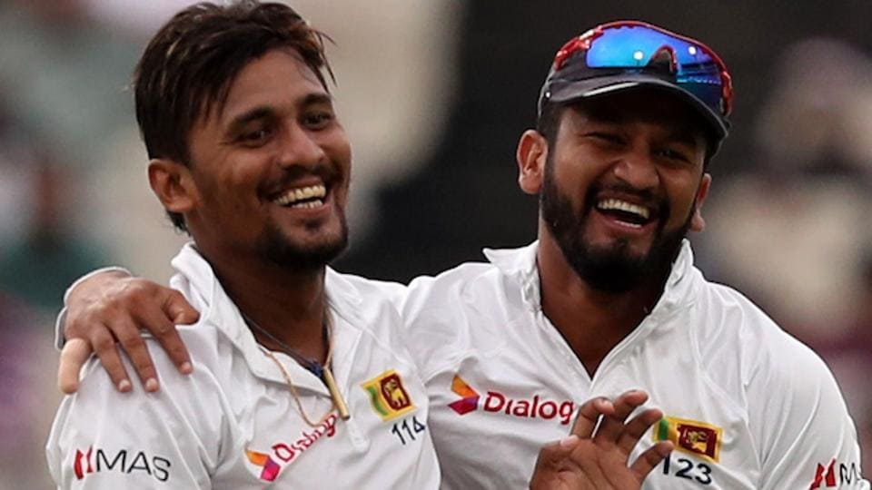 Suranga Lakmal (L) of Sri Lanka struck thrice against India on Day 1 of their first Test encounter in Kolkata. Get live cricket score of India vs Sri Lanka, 1st Test, Kolkata, day 1 here.