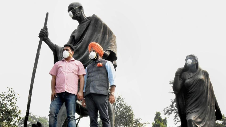 Mahatma Gandhi,Delhi air pollution,Delhi pollution level