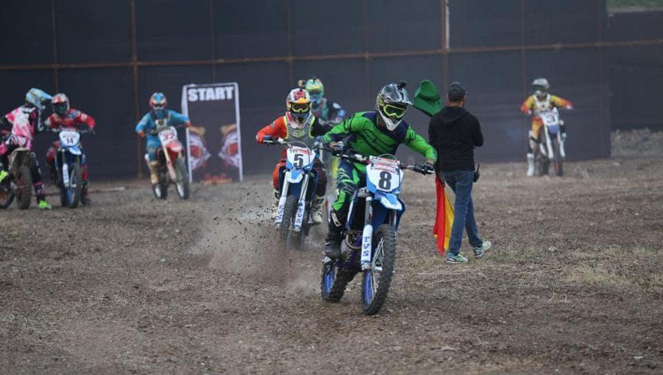 Riders,Pune Invitational Supercross,set race track on fire