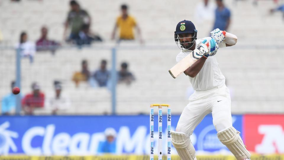 Pujara then batted sensibly and punished almost every loose delivery.  (AFP)