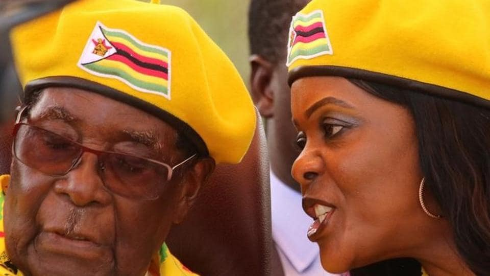 Robert Mugabe,Grace Mugabe,Zimbabwe