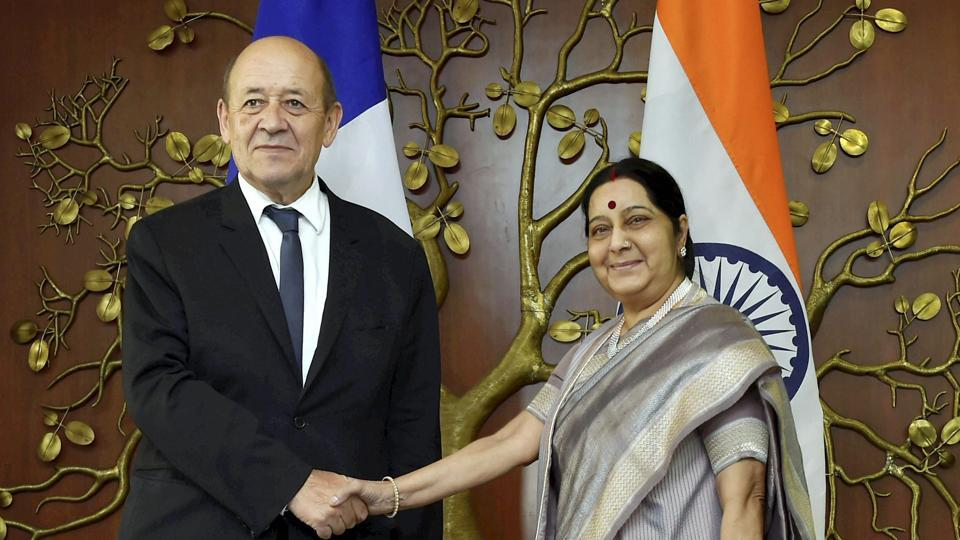 French Foreign Minister arrives in India on two-day visit