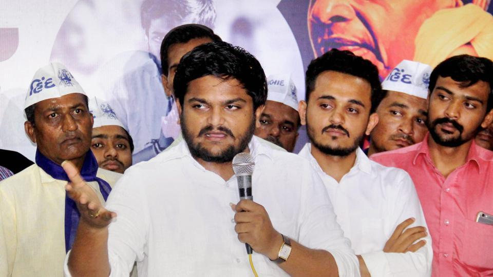 PAAS convener Hardik Patel interacts with the Patidar community in Ahmedabad last week.