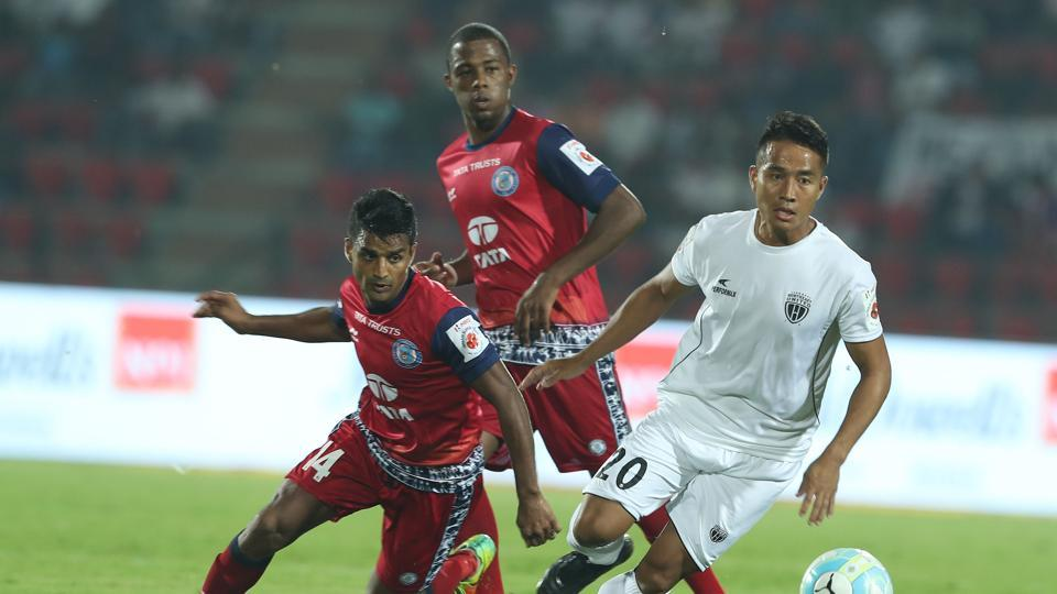 NorthEast United FC held Jamshedpur FC to a 0-0 draw in the Indian Super League.  (ISL / SPORTZPICS)
