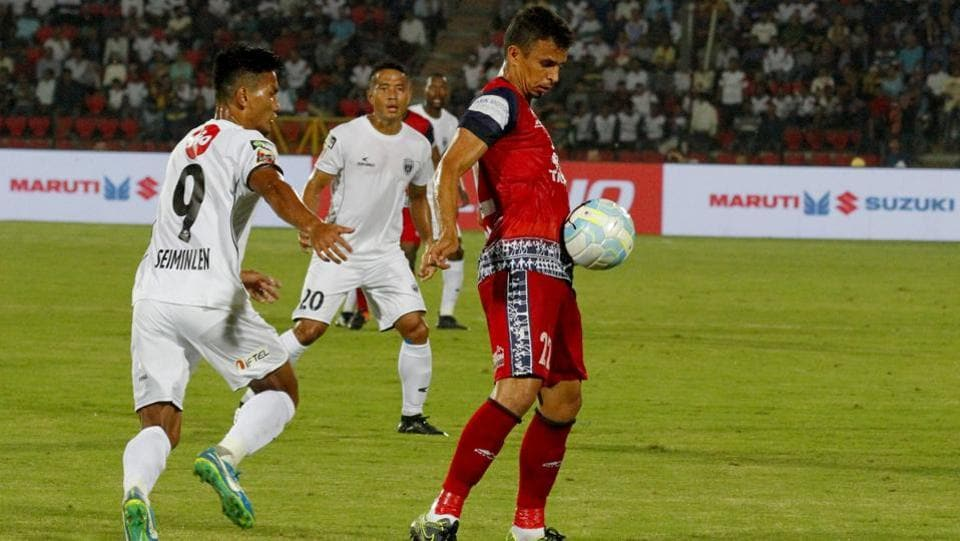 Emerson Gomes De Moura of Jamshedpur FC in action during the match.  (ISL / SPORTZPICS)