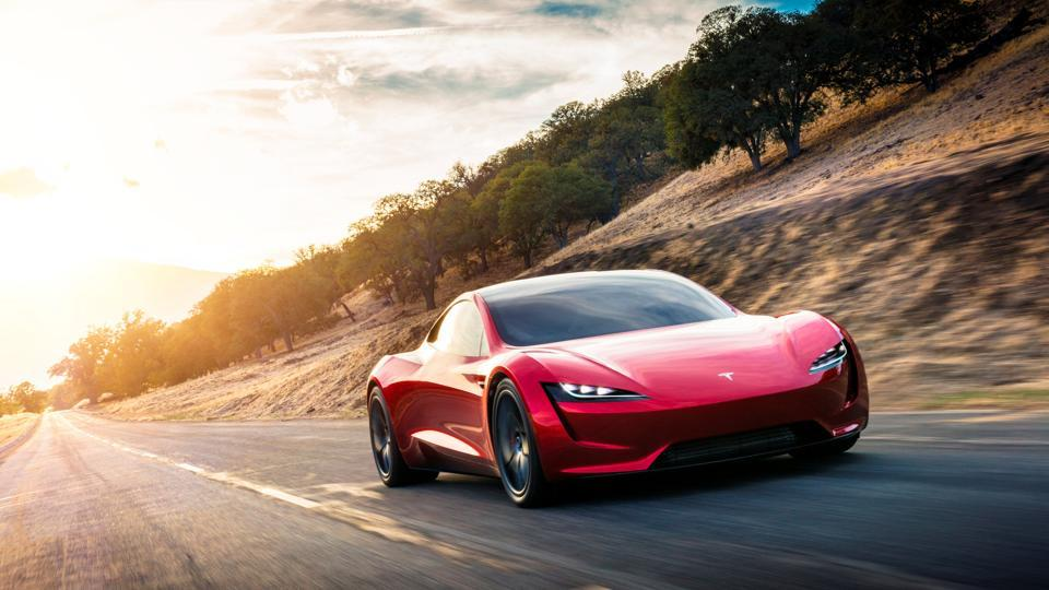 Tesla Roadster 2 is shown in this undated handout photo, during a presentation in Hawthorne, California, US. (REUTERS)