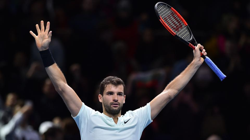 Grigor Dimitrov bounced back from a set down to beat Jack Sock in the semi-final to set up a showdown in the decider of the ATP Finals against David Goffin, who defeated Roger Federer.