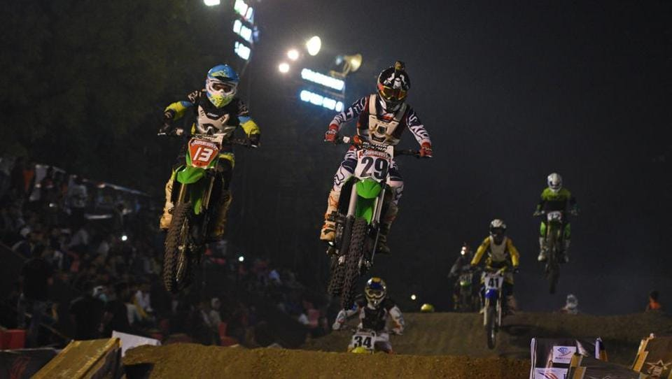 As a sport, Supercross is surely gaining in a lot of popularity in India.  (Pratham Gokhale/HT Photo)