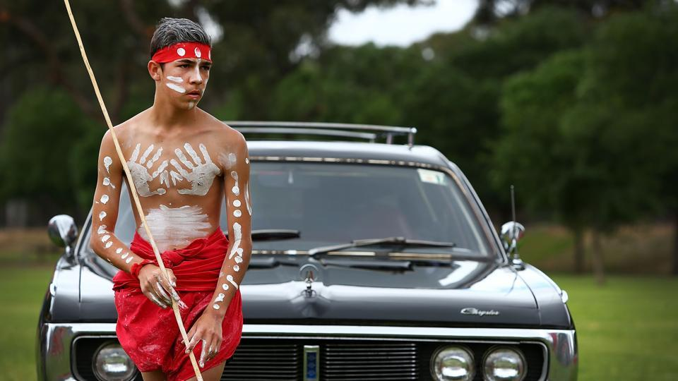 Robert Brouse-Flick, 15, a Tirkandi Inaburra Indigenous dancer performs during a ceremony to welcome 'Mungo Man' on November 16, 2017 in Hay, Australia. The 40,000-year-old remains of an Aboriginal man that prompted a drastic rewrite of Australian history --doubling the known length of human presence on the continent from 20,000 to 40,000 years-- were returned to his ancestral homeland after four decades of examination in the country's capital. (Lisa Maree Williams / Getty Images)