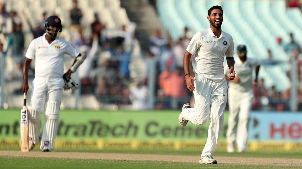 Bhuvneshwar Kumar picked four wickets in the innings as India's hopes of a win were reignited. (BCCI)