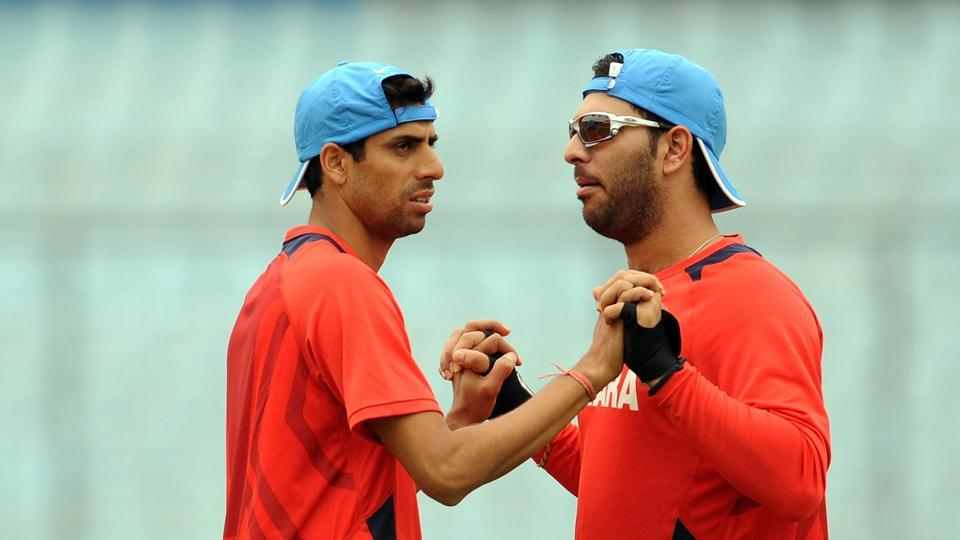 Ashish Nehra (L) shed some light on the Yo-Yo Test and Yuvraj Singh's failure to clear it whilst on commentary during the first Test between India and Sri Lanka.