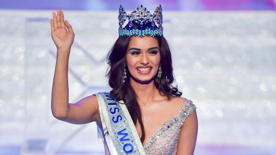 Manushi Chhillar,Shashi Tharoor,Miss World Manushi Chhillar