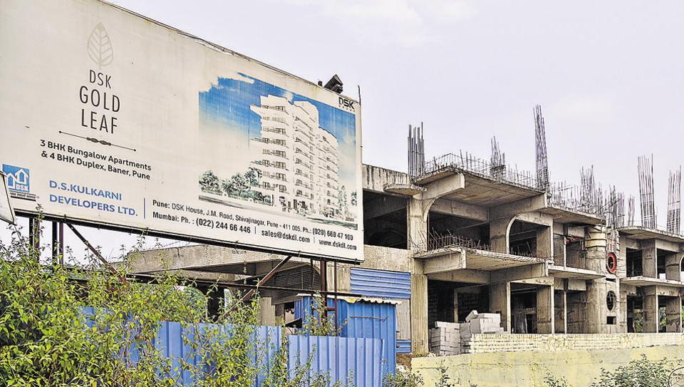 The Gold Leaf project under construction in Baner.