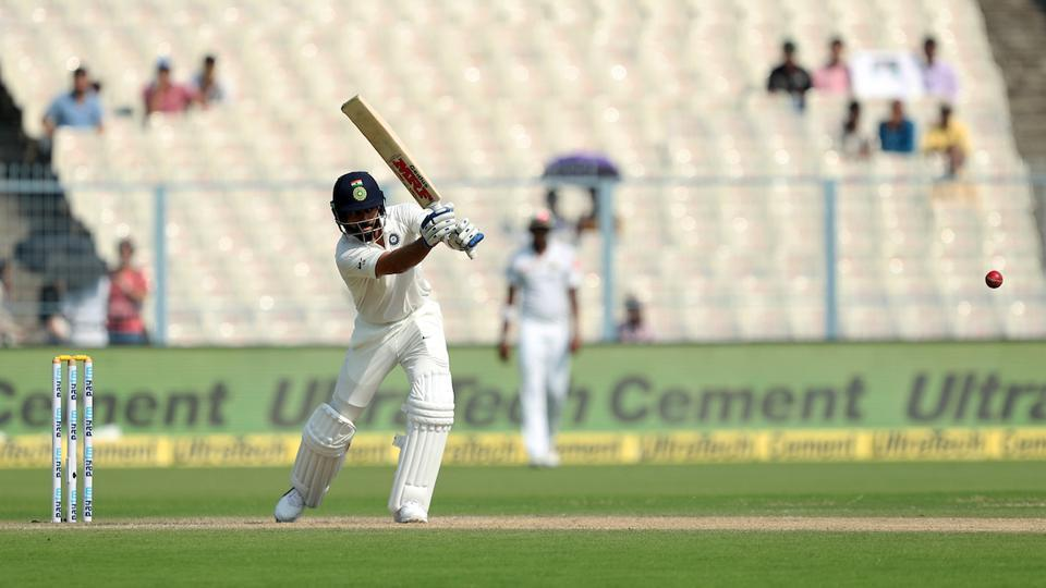 The Indian cricket team skipper hit a century as India raced to a big lead during the day's second session. (BCCI)