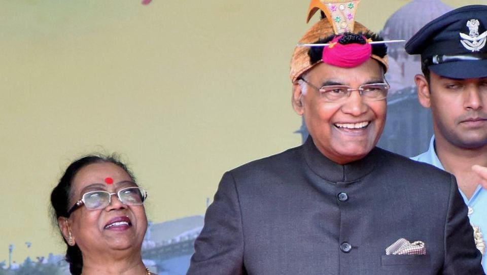 President Ram Nath Kovind at the valedictory function of 40 years of celebrations of Vivekananda Kendra Vidyalaya, Arunachal Pradesh, at Indira Gandhi Park in Itanagar on Sunday.