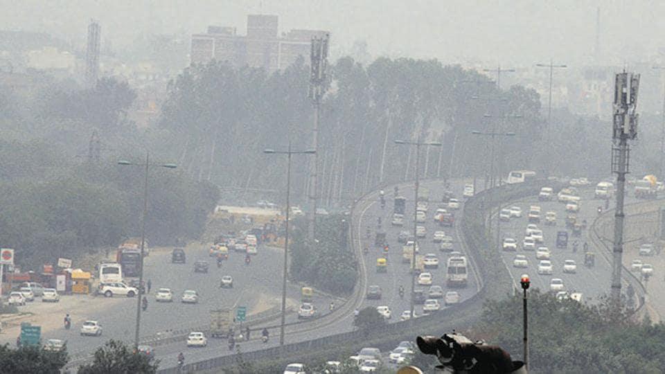 A hazy Gurgaon last week.