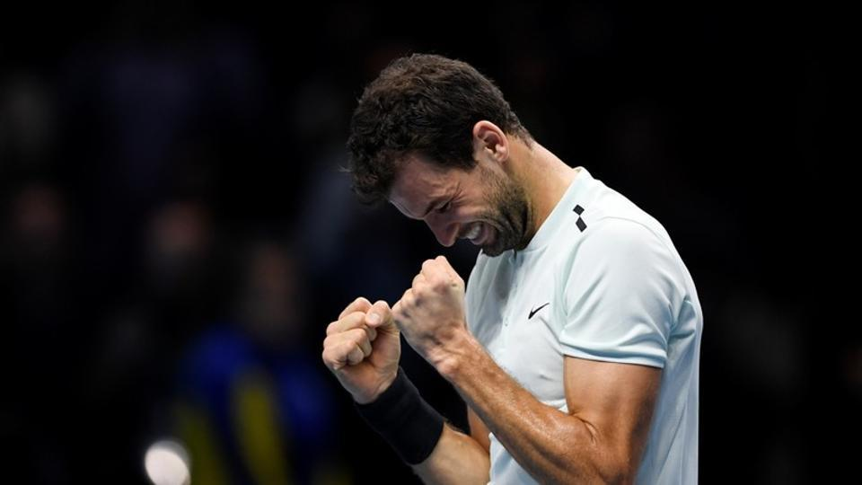 Grigor Dimitrov clinched the ATPFinals title on his first attempt as he defeated David Goffin in a tough three-set game.