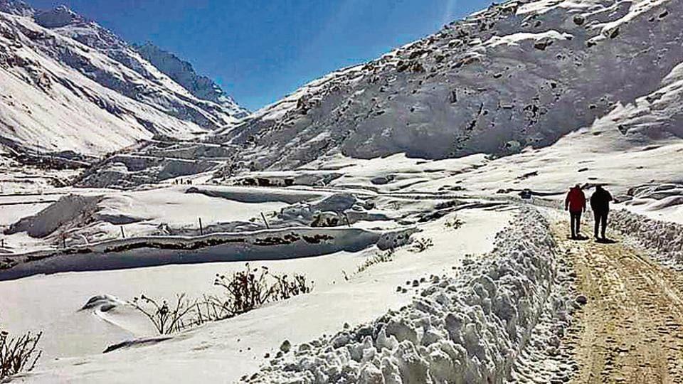 Rohtang snow,Rohtang Pass,Lahaul-Spiti