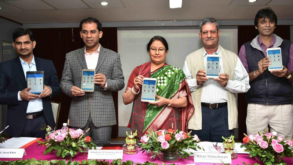 Education minister Kiran Maheshwari launched the Dishari app in Jaipur on Tuesday.