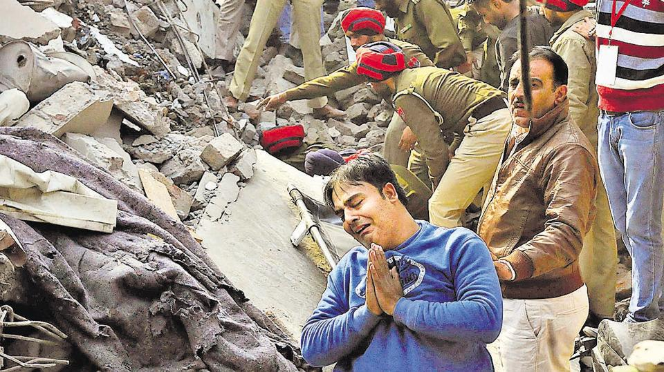 Factory collapses,Ludhiana factory collapse,10 dead