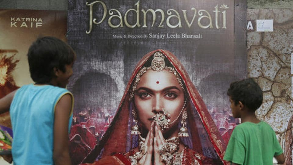 A poster of the Bollywood film 'Padmavati' in Mumbai. Members of the Rajput community have been going on a rampage, pulling down posters and making death threats against the filmmakers and actors in the movie. (AP Photo)