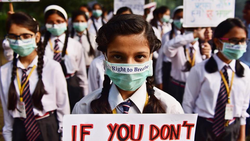 delhi pollution govt urges parents to restrain students