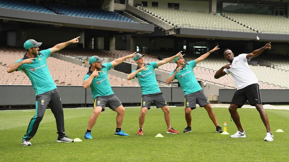 Usain Bolt has been training the Australian cricket team in a unique way ahead of the Ashes contest against England starting on Thursday.  (Getty Images for Gatorade)