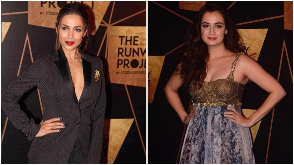 Malaika Arora's sultry look wasn't the end of all the eye-catching ensembles at the star-studded event.  Actor Dia Mirza nailed the It Girl vibe with her Rocky Star floor-grazing dress.