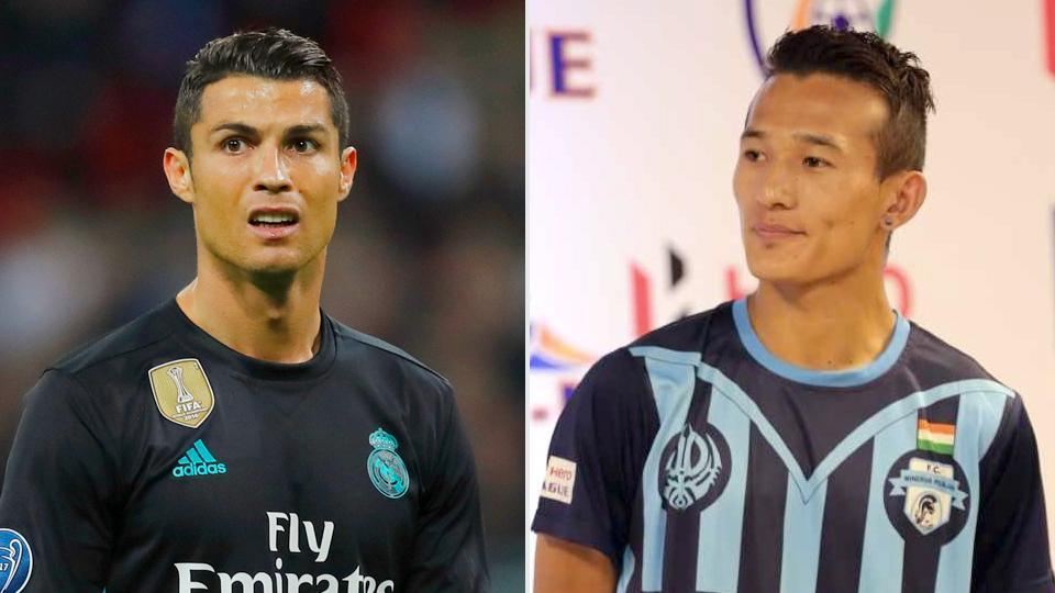 Cristiano Ronaldo,Chencho Gyeltshen,I-League