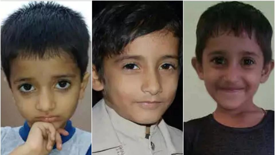 The bodies of Sameer, 11; Simran, 8; and Samar, 3, were found in Morni that is nearly 110 kilometers away from their village Sarsa in Pehowa subdivision.