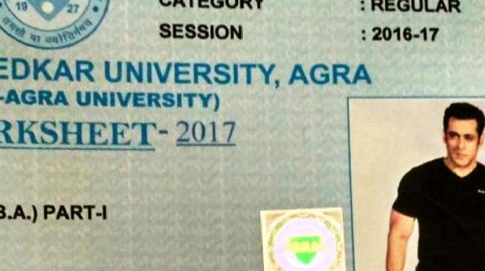 Agra University,Dr Bhim Rao Ambedkar University,Salman Khan