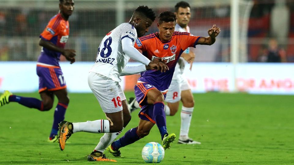 Both team failed to create any genuine chance to score in the first-half. (ISL / SPORTZPICS)