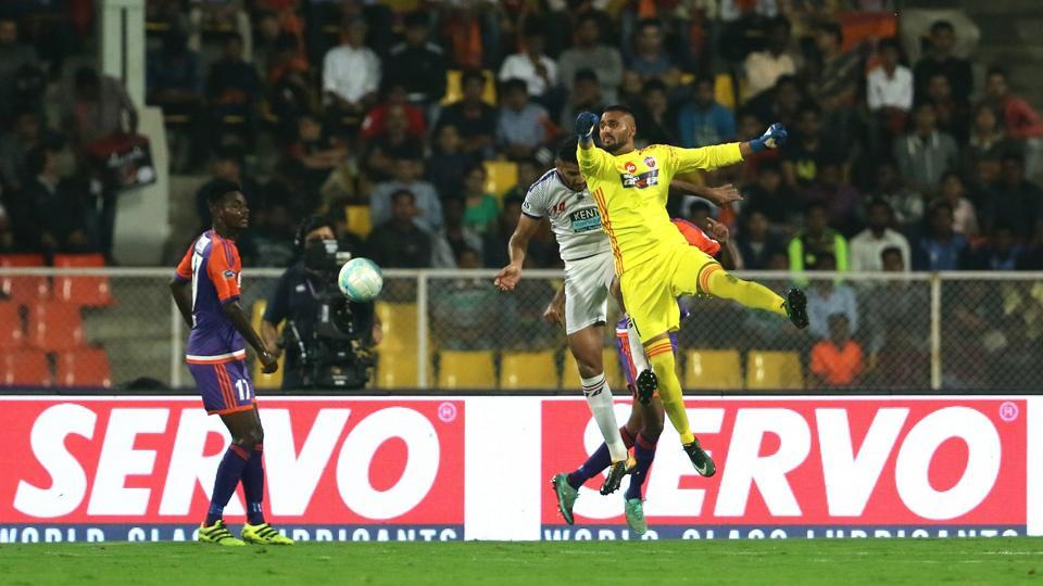 The first-half of the Dynamos vs Pune City ended 0-0. (ISL / SPORTZPICS)