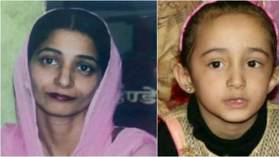 Harwinder Kaur (left), and her four-year-old daughter, Enampreet Kaur were found drowned at the sarovar in Gurdwara Sahib Moti Bagh in Patiala on Thursday.